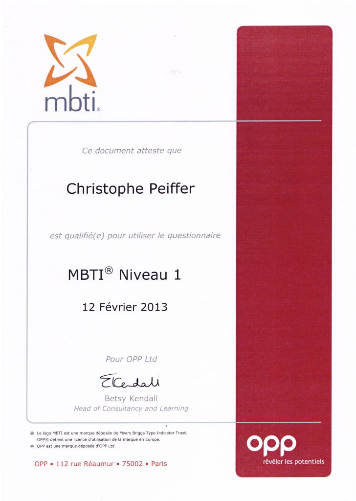 Christophe Peiffer - MBTI