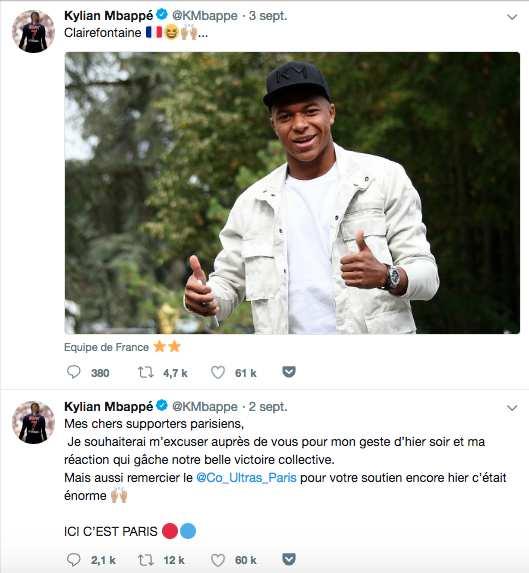 tweet Kylian Mbappé 2